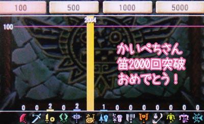 かいぺちさん笛2000回