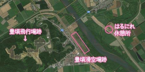 豊頃滑空場跡地図