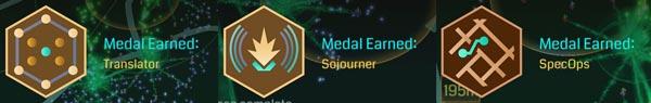 3つのメダル獲得