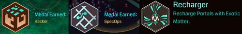 3つのメダルGET