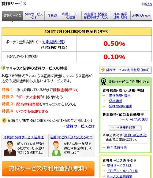 貸株サービス