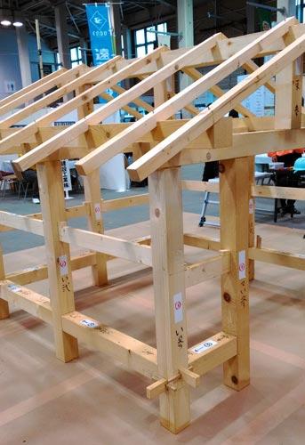 木組みの家の模型
